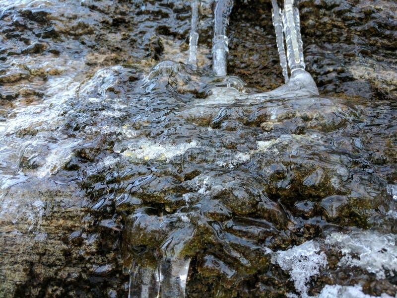 Congele que fluxos como a água fotos de stock royalty free
