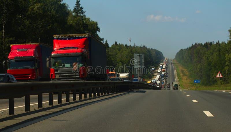 Congestão de estrada fotografia de stock