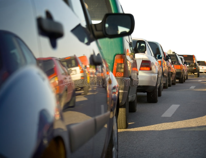 Congestión de tráfico fotografía de archivo