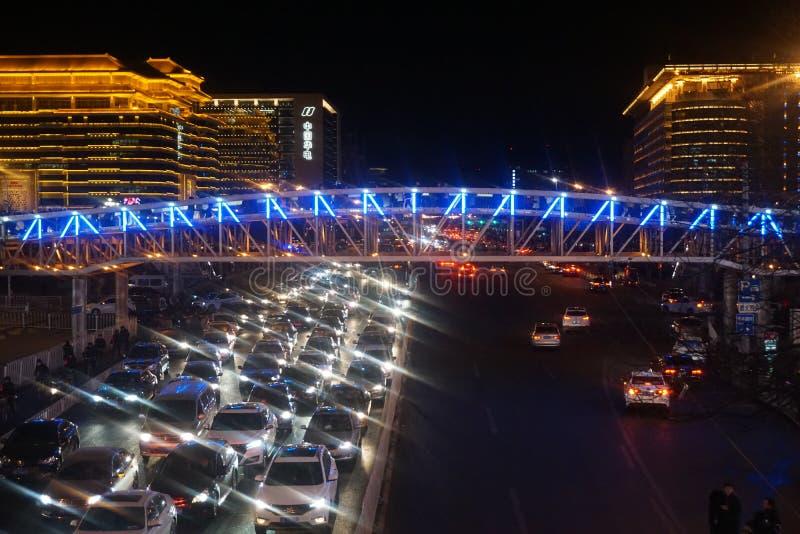 Congestión y luz de la ciudad foto de archivo libre de regalías