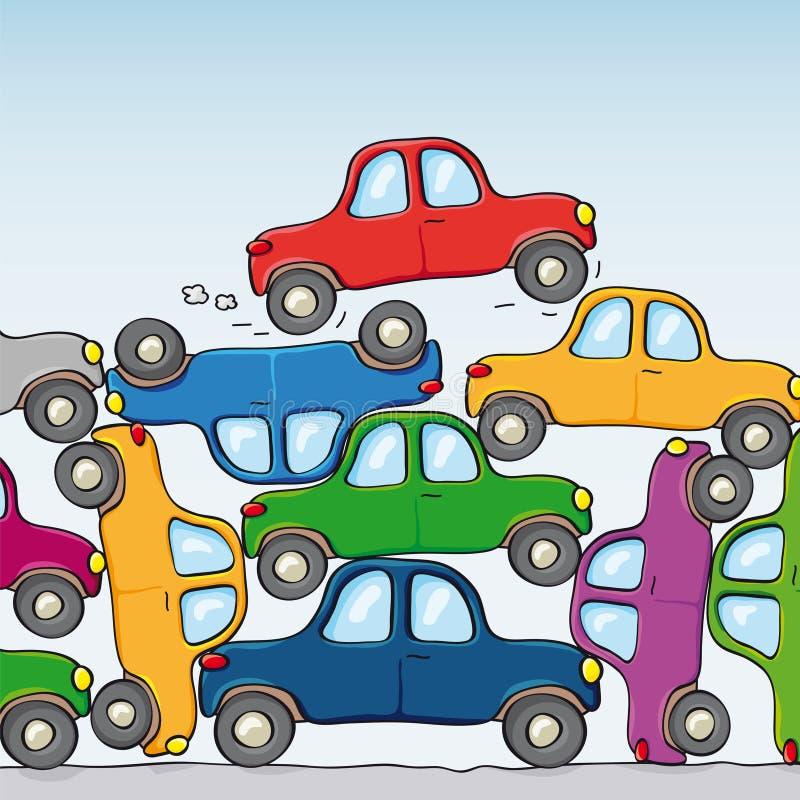 Congestion royalty free illustration
