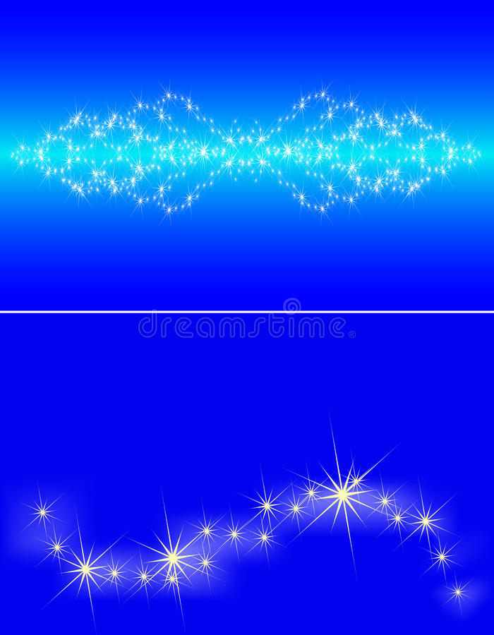 Congestion of stars in the dark blue sky vector illustration