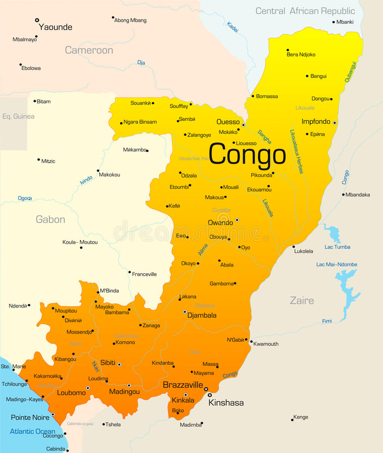 Congo ilustração royalty free