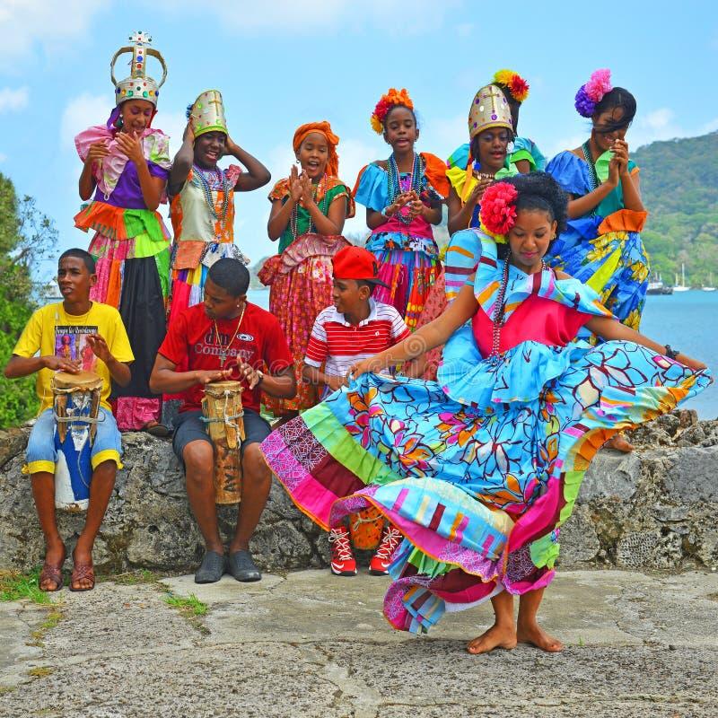 Congo Dance in Portobelo, Panama royalty free stock photo