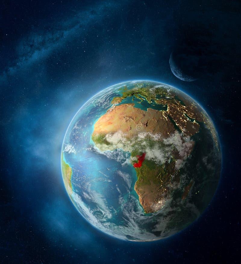 Congo del espacio en la tierra del planeta imagen de archivo