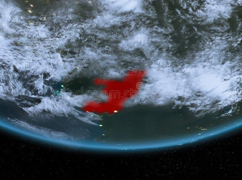 Congo en la noche ilustración del vector