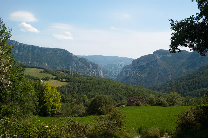 Congost de Collegats Pyrenees Spain royalty free stock photo