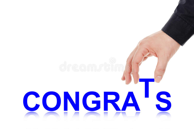 congrats immagine stock