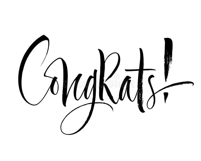 Congrats bokstäver vektor illustrationer