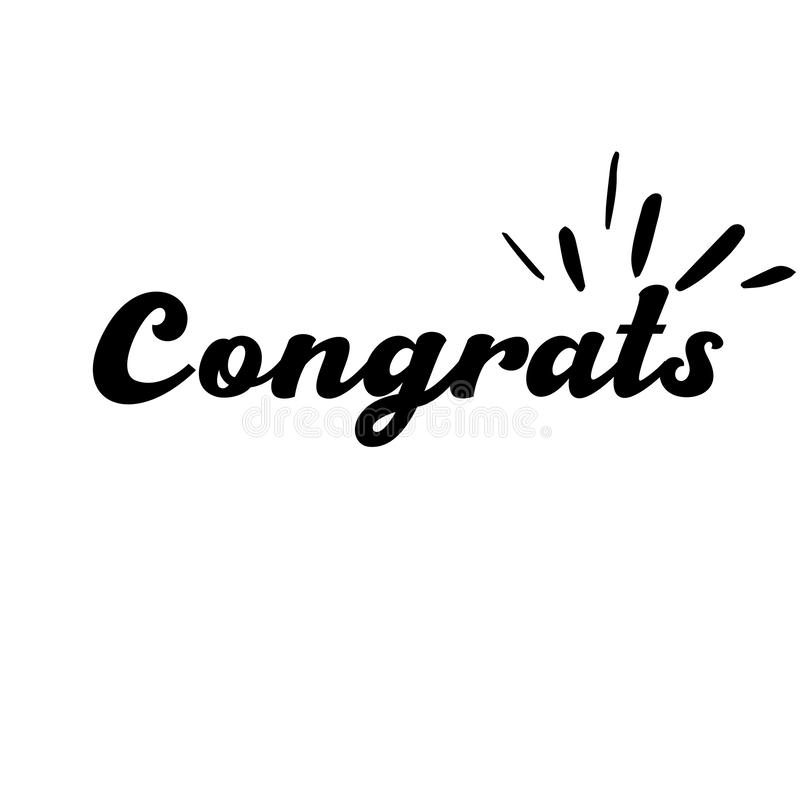 Congrats literowanie R?cznie pisany nowo?ytna kaligrafia, szczotkarscy maluj?cy listy Inspiracyjny tekst, wektorowa ilustracja Sz ilustracja wektor