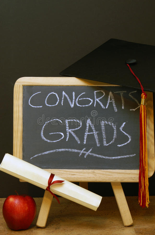 Congrats a tutti i laureati fotografia stock libera da diritti
