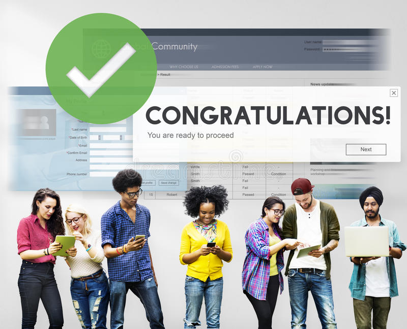 Congratulation Achievement Admiration Victory Concept royalty free stock images