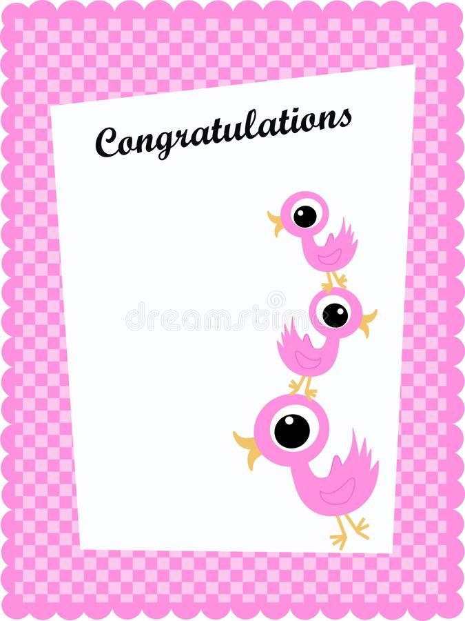 Congratulation card royalty free stock photos