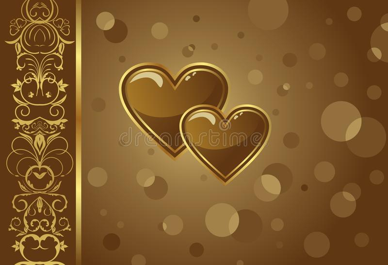 Download Congratulation Card With Heart Stock Vector - Image: 18153317