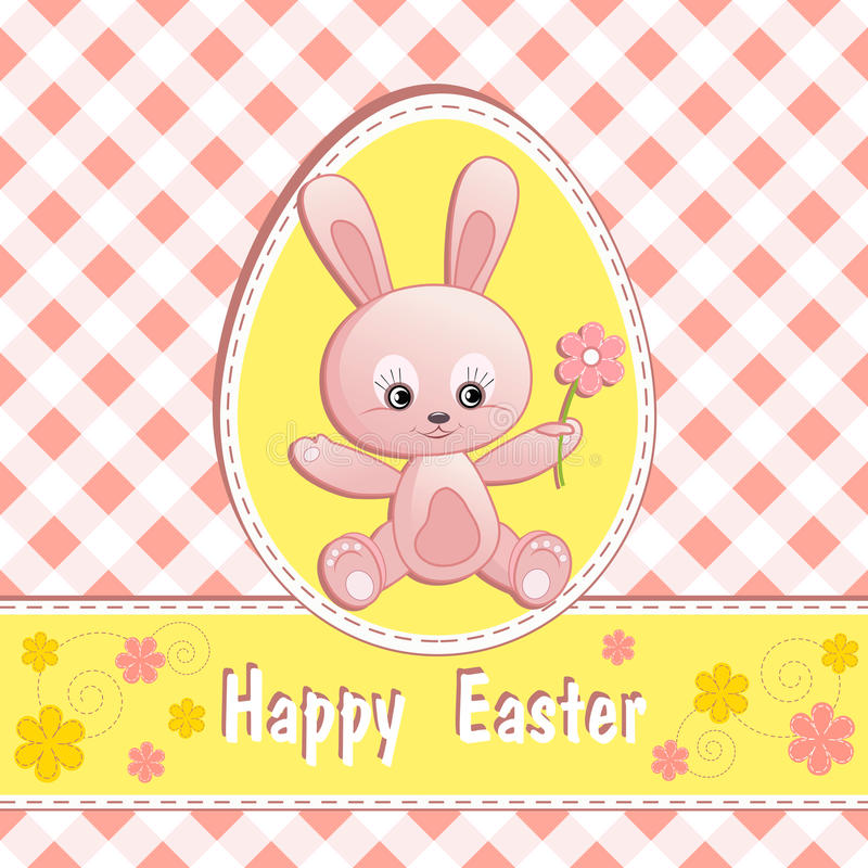 Download Congratulation Card With Rabbit. Royalty Free Stock Photography - Image: 24895397