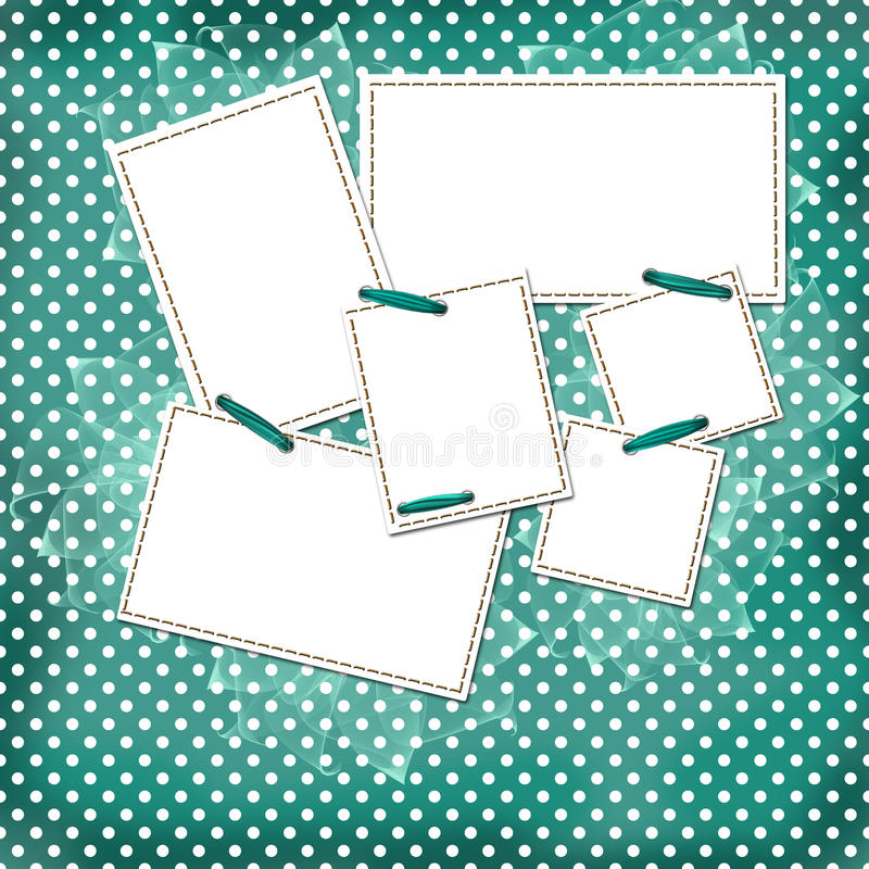 Congratulation green card with sheets for design vector illustration