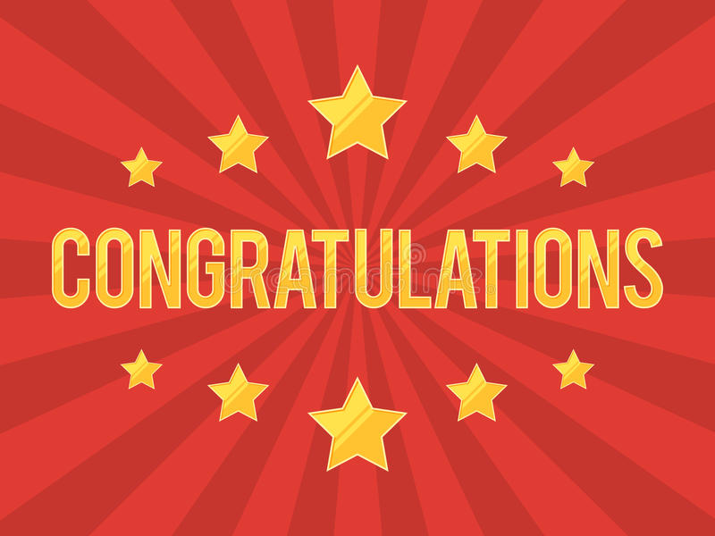 Congratulations Banner with stars vector illustration