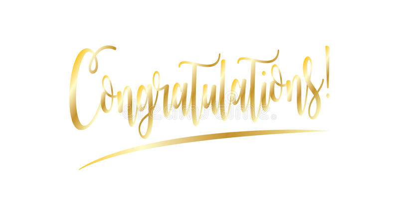Download Congratulations stock vector. Illustration of congratulate - 80749237