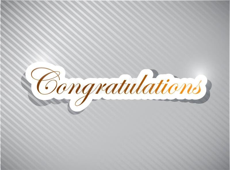 Congratulations card illustration design vector illustration