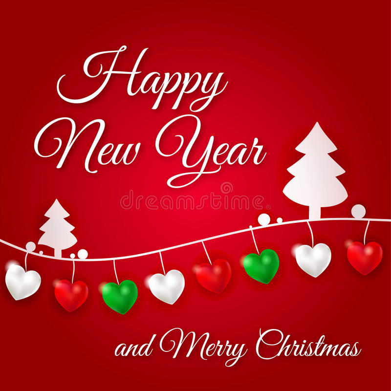 Congratulations on a happy new year and merry christmas garland of download congratulations on a happy new year and merry christmas garland of hearts stock m4hsunfo