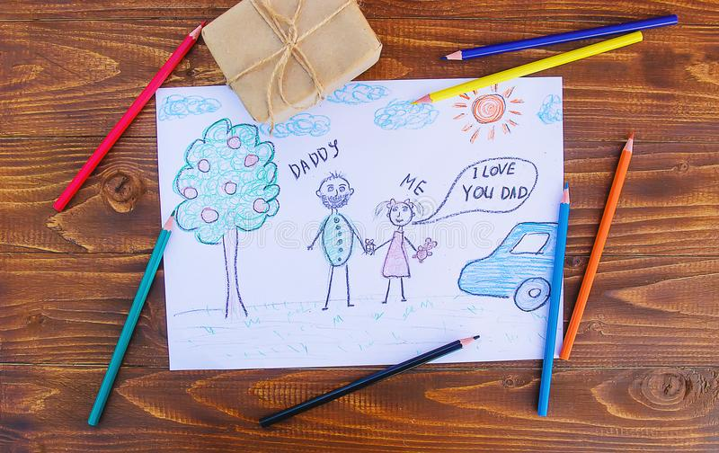 Congratulations on his father`s day. royalty free stock photography