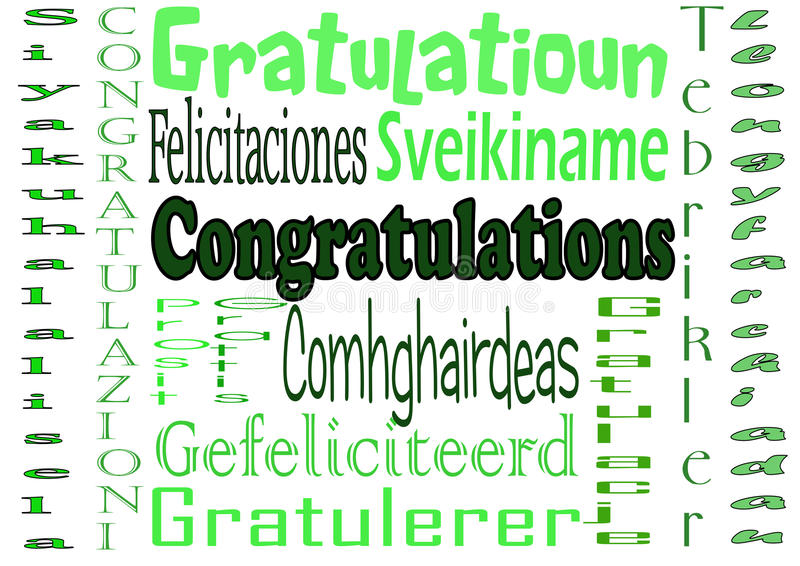 Congratulations stock images
