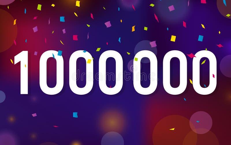 Congratulations 1KK followers, one million followers. Thanks banner background with confetti. Vector illustration stock illustration