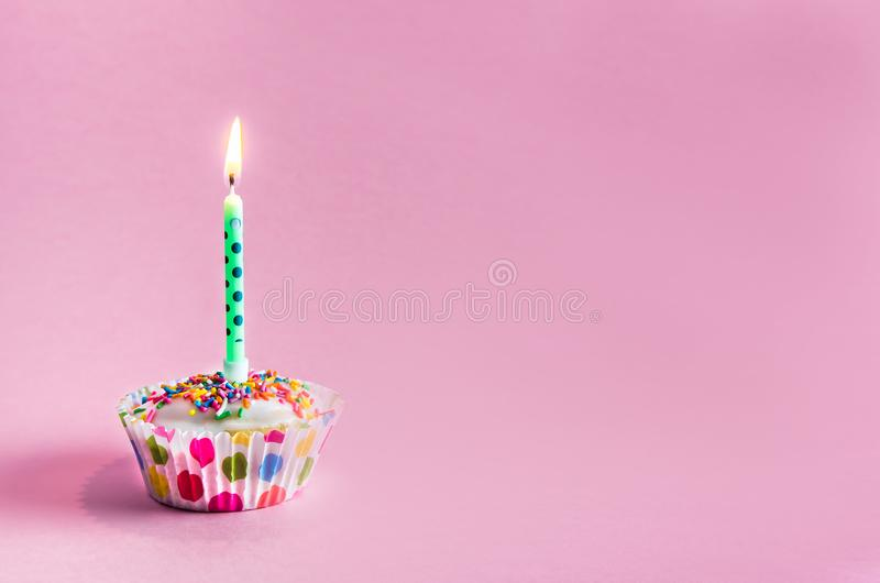 Congratulations. muffin, cupcake with a candle. birthday. Congratulations. muffin, cupcake with a candle. holiday birthday copy space, happy, card, party stock photos