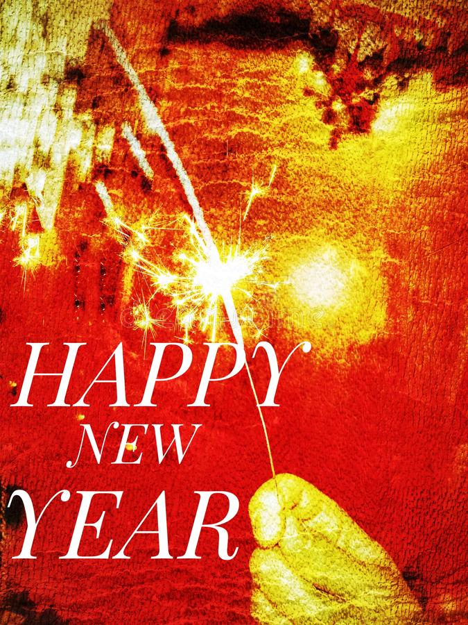 Congratulations for the new year with written happy new year royalty free stock images
