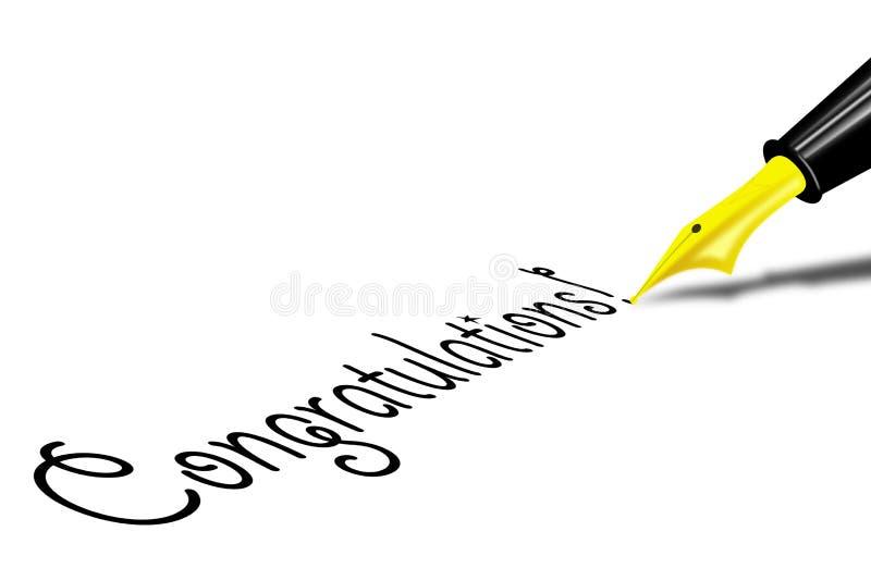 Congratulatons royalty free stock photography