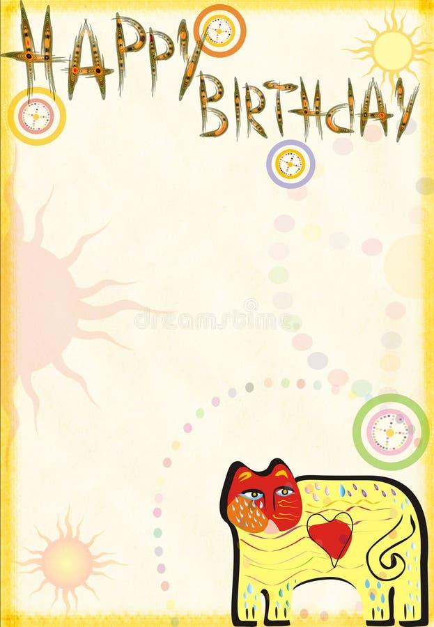 Congratulatory card on birthday royalty free stock image