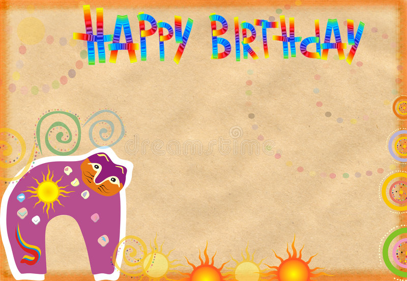 Congratulatory card on birthday stock photos
