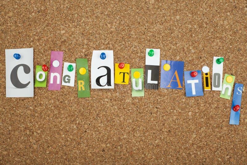 Congratulazioni immagine stock
