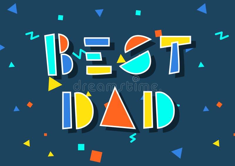 Congratulazioni il giorno del padre illustrazione di stock