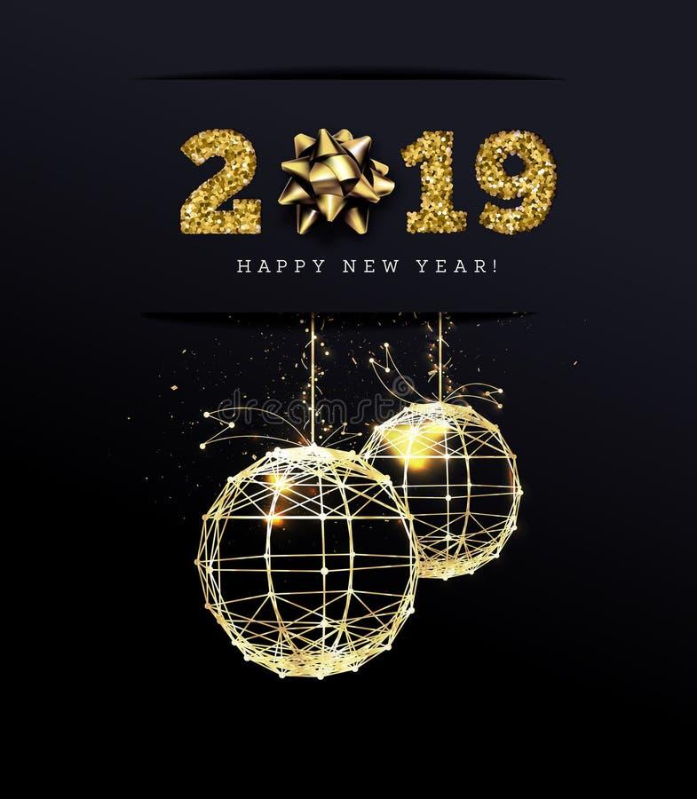 Congratulazioni sui 2019 buoni anni Regali di festa Vettore royalty illustrazione gratis