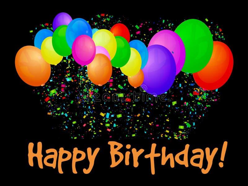 Congratulazioni sul compleanno con i palloni illustrazione di stock