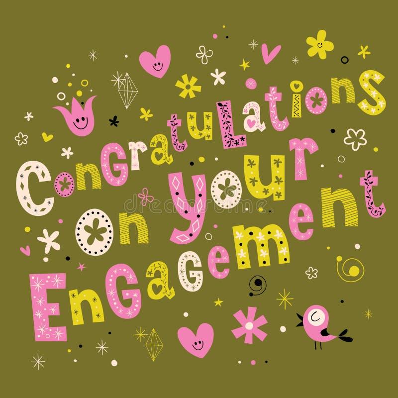 Congratulazioni sul vostro impegno royalty illustrazione gratis