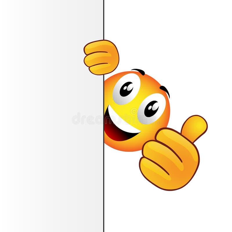 Congratullation emoticon royalty-vrije illustratie