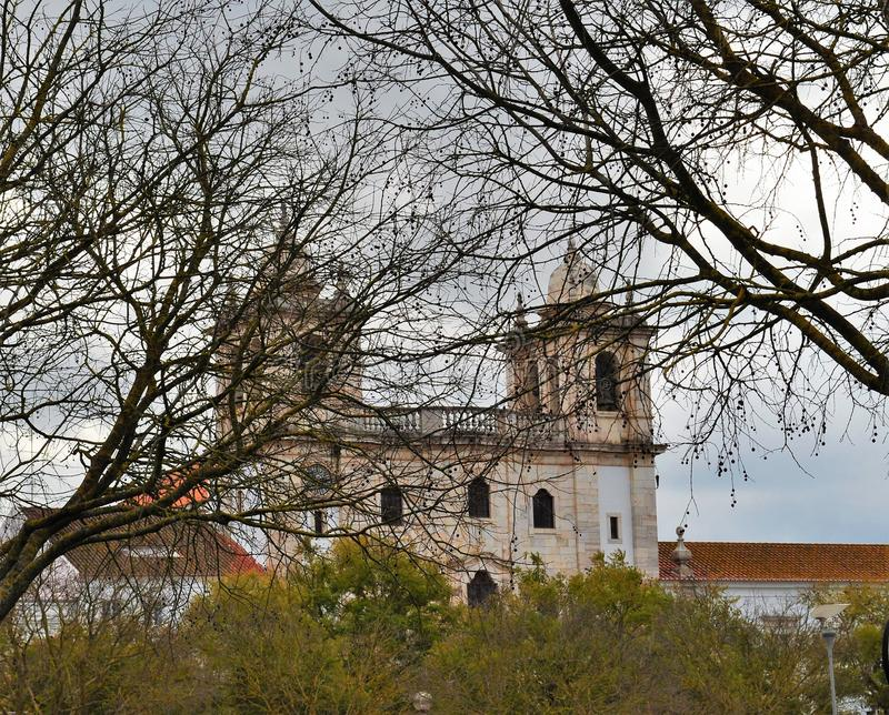 Congregation Convent - main frontage behind the trees in the winter stock photos