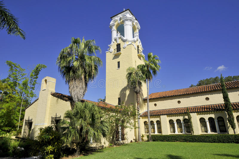 Congregational Church. Of Coral Gables, Miami, Florida, USA stock photo