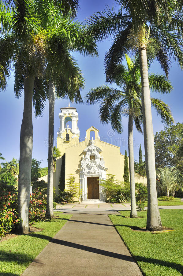 Congregational Church. Of Coral Gables, Miami, Florida, USA stock images