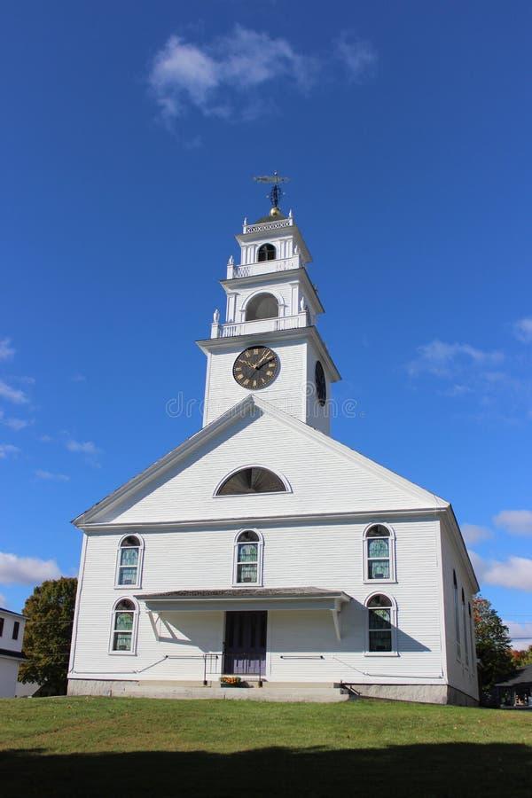 Congregational Church of Henniker. New Hampshire stock photography