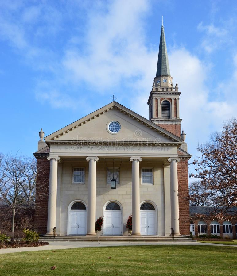 Congregational Church. This is a picture of the Winnetka Congregational Church in Winnetka, Illinois. The congregation was established on August 18, 1874. This stock photos