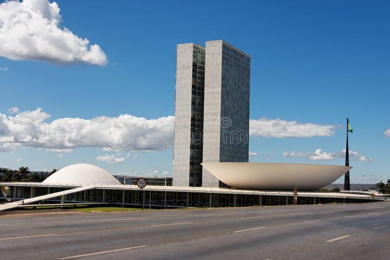 Congres dat Brasilia bouwt stock foto