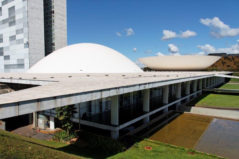 Congres dat Brasilia bouwt stock fotografie