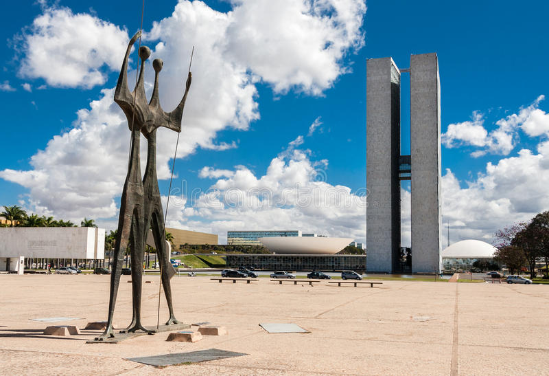 Congres die Brasilia Distrito Federaal Brazilië bouwen royalty-vrije stock fotografie