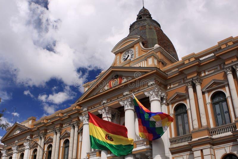 Congres in La Paz, Bolivië stock afbeelding