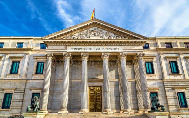 Congres van Afgevaardigden in Madrid, Spanje stock afbeelding