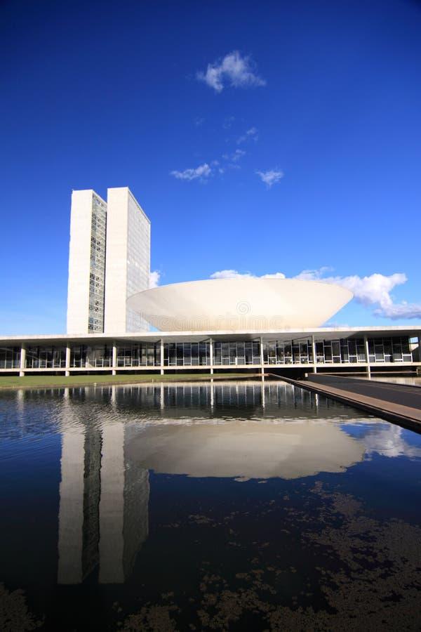 Congresgebouwen in Brasilia royalty-vrije stock afbeelding