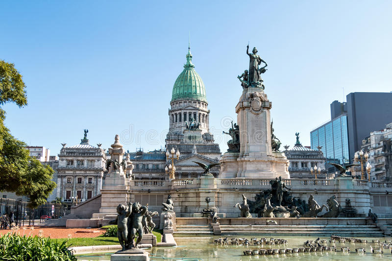 Congreso de la Nacion Argentina, in Buenos Aires. Argentina stock photo